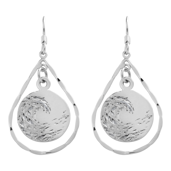 Earings-small-sterling-silver-circle-in-silver-tear-drop-01-1200