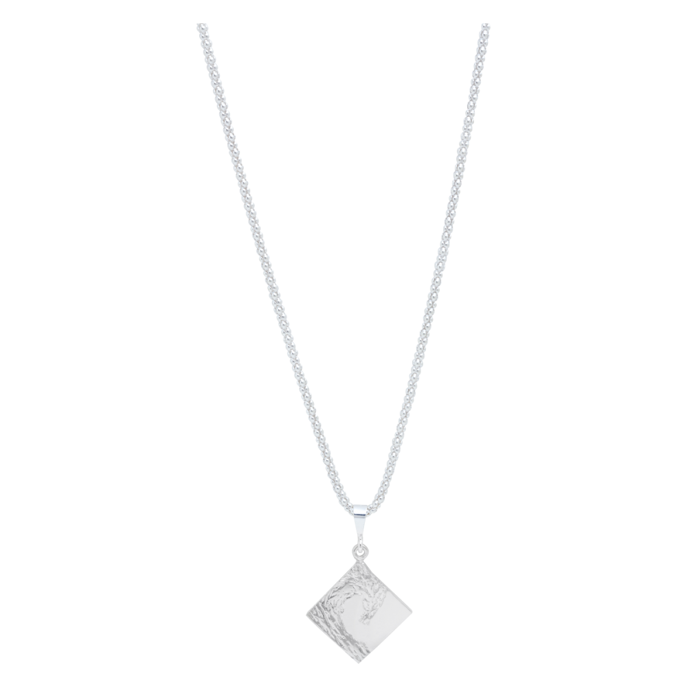 Sterling silver diamond on a bubble chain neckless the wave sterling silver diamond mozeypictures Images