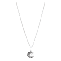 Neckless-small-patina-sterling-silver-circle-on-a-popcorn-chain-01-1200
